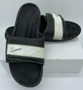 buy popular b5aae 3cf96 Image is loading Nike-Comfort-Slide-360884-061-Mens-Sandals-Black-