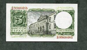 BILLETE 5 pesetas 1954 con serie   S   SC  SIN CIRCULAR