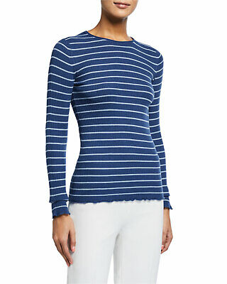 Vince Womens Fitted Ribbed Crew Sweater