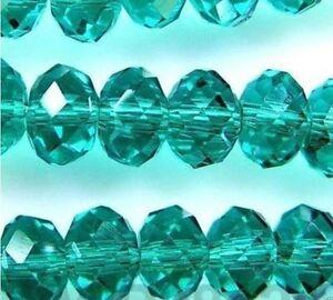 100pcs-Peacock-Green-Faceted-Swarovski-Crystal-Gemstone-Loose-Beads-4x6mm