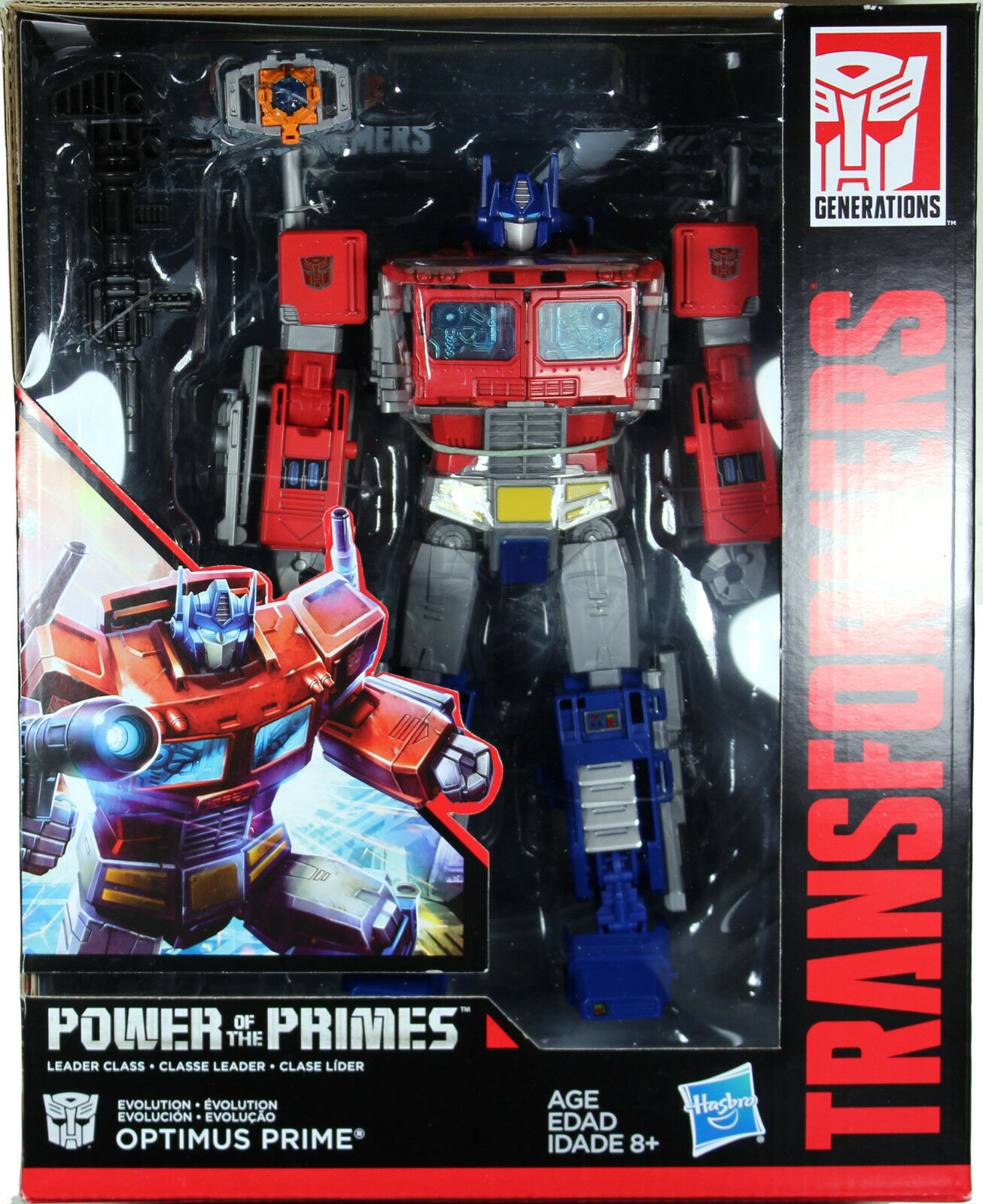 Transformers  POWER OF THE PRIMES LEADER CLASS OPTIMUS PRIME ACTON FIGURE