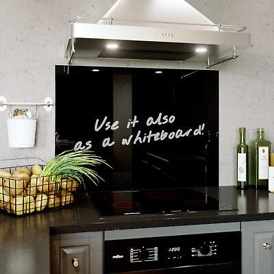 Glass Splashback Kitchen Tile Cooker Panel Any Size Plain Pure Black C Black Ebay