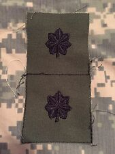 USGI Lieutenant Colonel Subdued Rank Insignia LTC O-5 Cloth Sew On Olive Drab