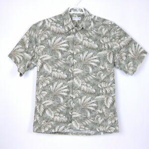 Pierre-Cardin-Mens-Size-M-Floral-Tropical-Hawaiian-Shirt-100-Cotton-Medium-Med