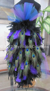 13ebf6ec07b Details about Peacock Bustle - Feather Bustle - Peacock Costume or Carnival  Costume