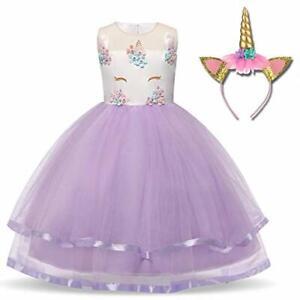 c95bc90c9394 Image is loading Unicorn-Fairy-Princess-Dress-Bridesmaid-Flower -Ballet-Dance-