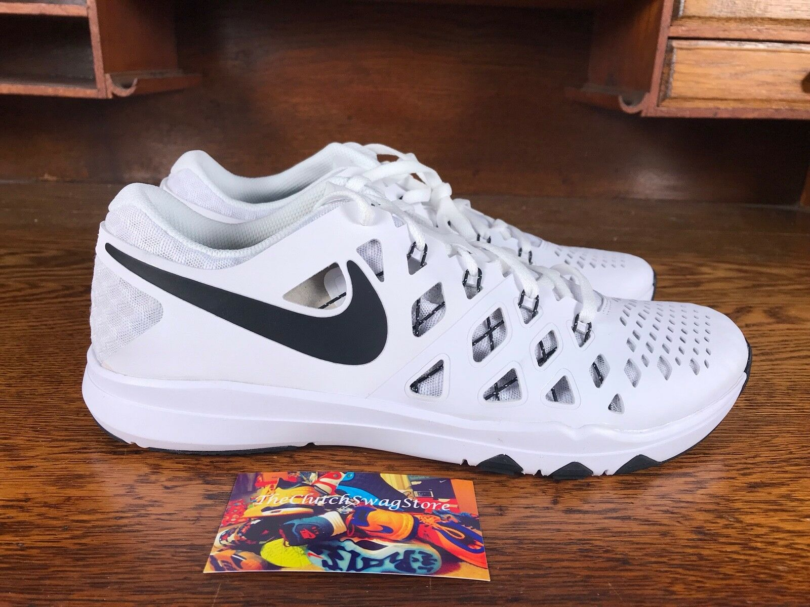Nike Train Speed 4 Mens Running Training shoes White Black 843937 103 Multi Sizs