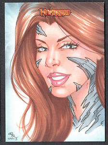 WITCHBLADE-COLLECTOR-CARDS-Breygent-2014-SKETCH-CARD-by-RHIANNON-OWENS