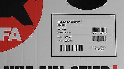 PREFA Dachplatte Stucco P.10  anthrazit  9,75 m2 110710