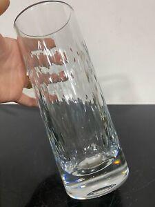 Signed-BACCARAT-France-8-Large-Crystal-Art-Glass-Flower-Vase