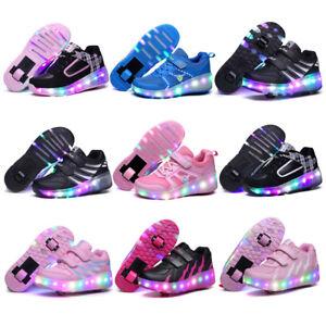 1332c7597c391d Image is loading Retractable-Kids-Roller-Skate-Wheels-LED-Light-Shoes-