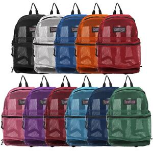 Image Is Loading Transport See Through Mesh Backpack Book School Bag