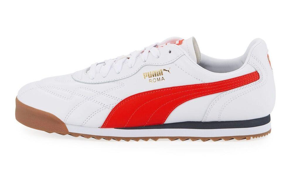 Puma homme ROMA ANNIVERSARIO chaussures blanc/Red 366673-07 c
