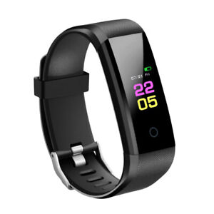 Smartwatch Armbanduhr Fitness Pulsmesser   Aktivitätstracker Schwarz