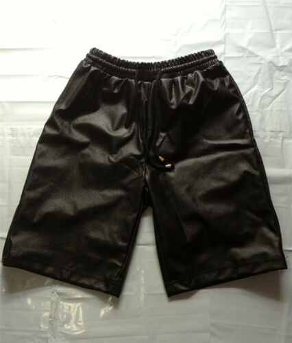 New Gold zipper Tether Breathable Elastic Waist Black Men Casual Shorts