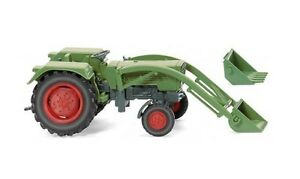Fendt-Farmer-2S-avec-chargeur-frontal-1968-vert-reseda-Wiking-089003-echelle-H0
