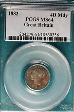 1882 PCGS MS64 Great Britain 4D Mdy! #B5145