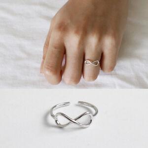 Damen-Ring-Infinity-Symbol-Unendlichkeit-echt-Sterlingsilber-925-47-53-offen