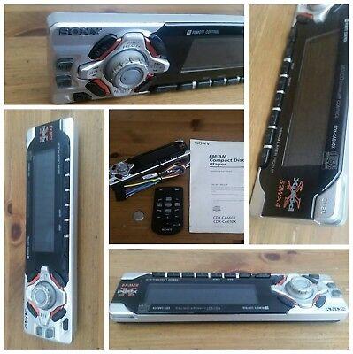 sony cdxca660x cdxca650x faceplate remote control wire harness and  manual  ebay
