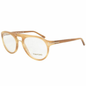a1c34856a6 New Tom Ford Unisex Round Eyeglasses FT5007 663 49 Light Havana ...