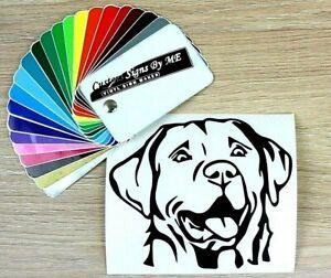 Labrador-Dog-Sticker-Vinyl-Decal-Adhesive-Wall-Car-Window-Bumper-Laptop-Black