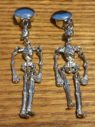 VINTAGE SKELETON EARRINGS HALLOWEEN