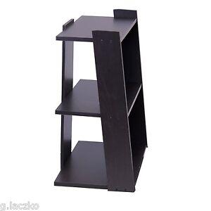 shelf ladder mini bookcase storage 3 tier case book wood bookshelf rh ebay com floating wood shelves espresso Espresso Book Shelves