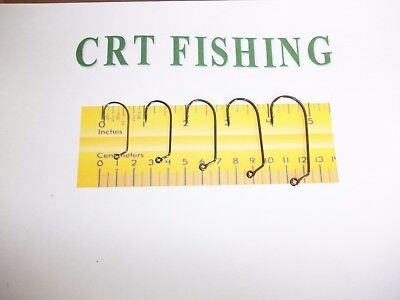 EAGLE CLAW 635 O/'SHAUGHNESSY 90° JIG HOOK 50 PACK CHOOSE SIZE 1 TO 7//0