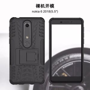 sale retailer 7d14f 68bc9 Details about For Nokia 6 2018 Hybrid Armor Shockproof Rugged Rubber  Kickstand Hard Case Cover