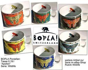 APOLLON-BOPLA-Wild-Life-Porzellan-Kaffeetasse-0-18l-SCHMETTERLING-FARBAUSWAHL