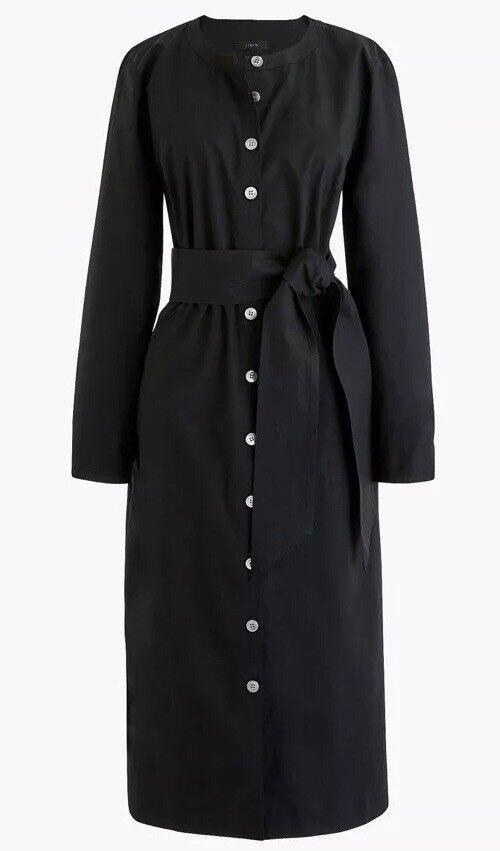 NEW JCREW Petite long-sleeve shirtdress SzMP H7681 In schwarz SOLDOUT