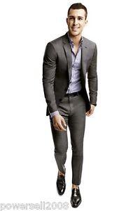 Custom-Made-Fashion-Dark-Gary-Regular-Button-Broadcloth-Groom-Wedding-Suits
