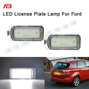 For Ford C-MAX Edge Transit Connect Full LED License Plate Lights Set Brightest