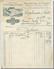 Invoice - Paulraji & Soules Manufacture candles at Agen 1897