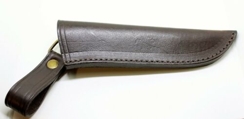 185 mm Lederscheide Scheide Messerscheide Leder Handarbeit hellbraun Länge