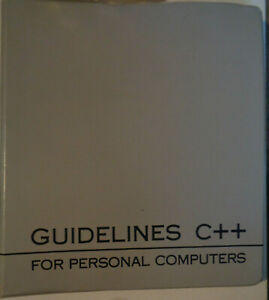 C-Version-1-2-by-Guidelines-Software-1988-Complete-package-for-IBM-PC