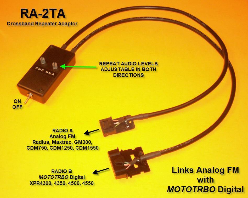 RA-2TA Repeater Adaptor Motorola GM300 CDM1250 RICK MOTOTRBO XPR XPR4300 XPR4500. Buy it now for 65.99