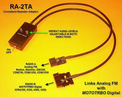 "RICK Repeater Cables Motorola GM300 GR300 VHF UHF 18/"""