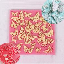 Butterfly Lace Fondant Mould Silicone Cake Decorating Mold Bake Icing Sugarcraft