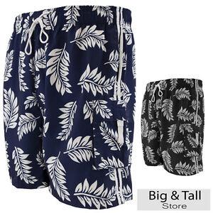 Big-Men-039-s-Cargo-Swim-Trunks-by-Falcon-Bay-3XL-8XL-Tropical-Print