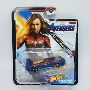 Hot-Wheels-Avengers-End-Game-CAPTAIN-MARVEL-Character-Cars-NEW-in-Box-HTF