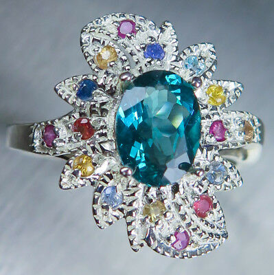 Oval Rose Cut Apatite Quartz Gemstone 925 sterling silver ring Apatite Quartz Ring Rose Gold Ring 22K Yellow Gold Unisex Ring