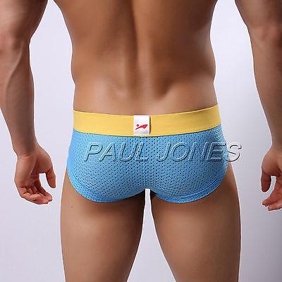NEW SALES Mens Breathe Holes Underwear Briefs Shorts Low Rise Underpants Trunks