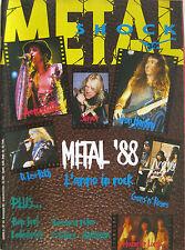 METAL SHOCK 34 1988 Anthrax Iggy & Stooges Crimson Glory Misfits Strana Officina