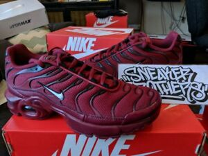 69f3f34903 Nike Air Max Plus TN Tuned 1 GS Team Red Burgundy Black Bred White ...