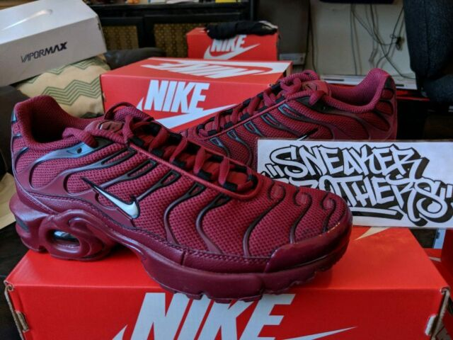 uk availability 455d4 16309 Nike Air Max Plus TN Tuned 1 GS Team Red Burgundy Black Bred White  655020-603 98