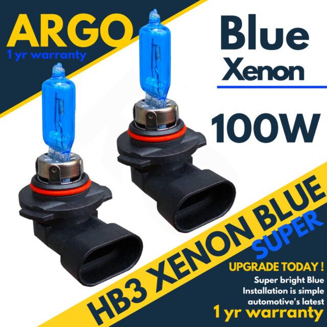 HB4 9006 P22D 100W ICE BLUE XENON EFFECT HALOGEN HEADLIGHT FOGLIGHT BULBS 2PCS