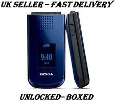 Nokia 2720 Blue Flip Fold Big Button Big Screen Big Font  Bluetooth Mobile Phone