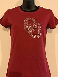 fb75e3530dc49 Image is loading Oklahoma-Sooners-OU-Bling-Shirt-Women-039-s-