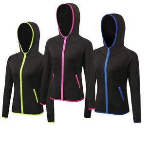 Damen-Sport-Training-Tops-mit-Zipper-Hoodies-Dri-Fit-Running-Jogging-Wear
